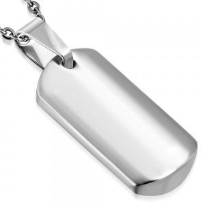 """Vyriškas sidabrinės spalvos pakabukas (galima graviruoti)  """"PA072"""""""