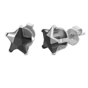 """Žvaigždės formos auskarai vyrams""""AU120"""""""