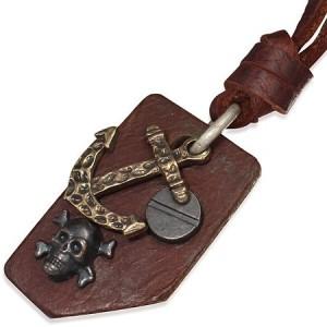 """Vyriška odinė virvelė su pakabuku """"GR135"""""""