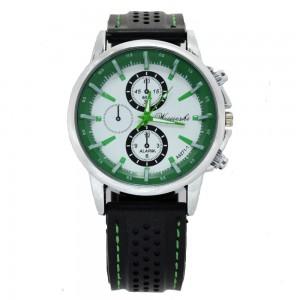 """Juodas laikrodis su žaliom dekoracijom """"CL055"""""""