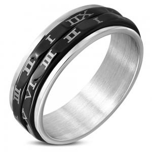 """Vyriškas žiedas - Romėniški Skaičiai """"RI137"""""""