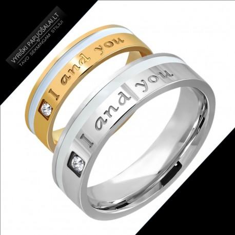 """Žiedai porai - Aš ir Tu """"RI140"""""""