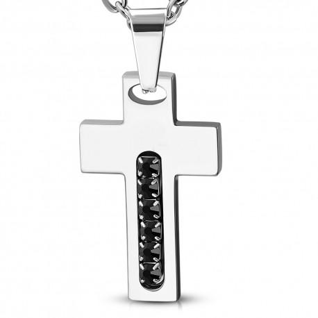 kaklo pakabukas vyrams kryžius