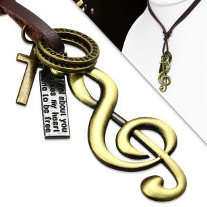 Vyriška grandinėlė smuiko raktas